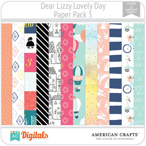 Dear Lizzy Lovely Day Paper Pack 3