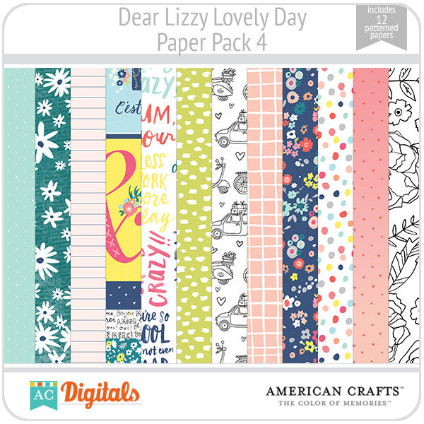 Dear Lizzy Lovely Day Paper Pack 4