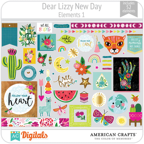Dear Lizzy New Day Element Pack 1