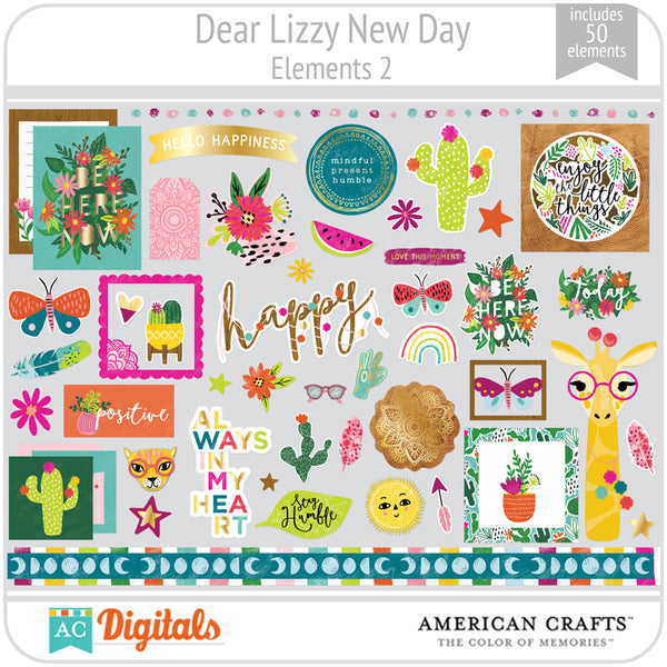 Dear Lizzy New Day Element Pack 2