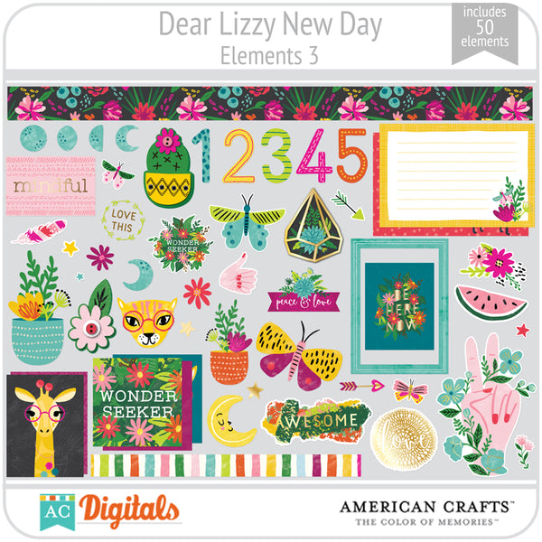 Dear Lizzy New Day Element Pack 3