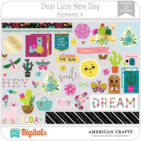 Dear Lizzy New Day Element Pack 4