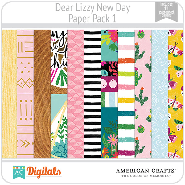 Dear Lizzy New Day Paper Pack 1