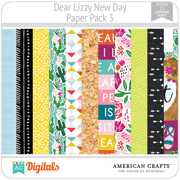 Dear Lizzy New Day Paper Pack 3