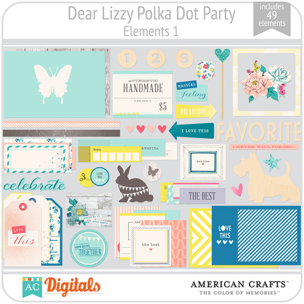 Dear Lizzy Polka Dot Party Element Pack 1