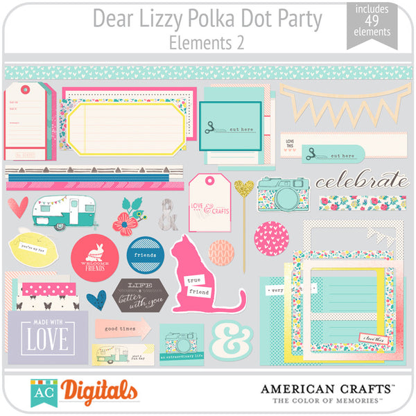 Dear Lizzy Polka Dot Party Element Pack 2