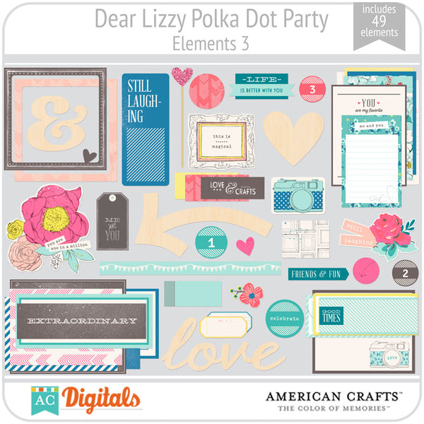 Dear Lizzy Polka Dot Party Element Pack 3