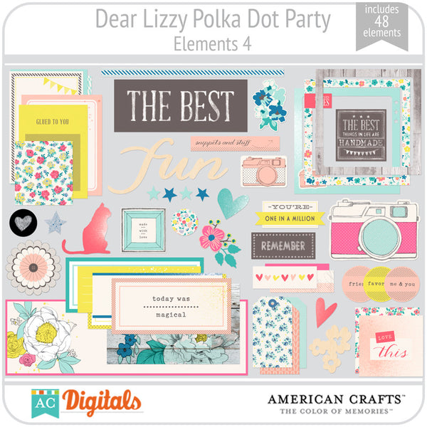 Dear Lizzy Polka Dot Party Element Pack 4