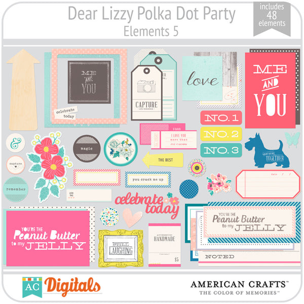 Dear Lizzy Polka Dot Party Element Pack 5