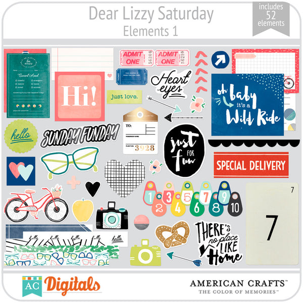 Dear Lizzy Saturday Element Pack 1