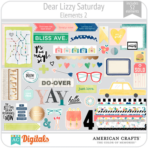 Dear Lizzy Saturday Element Pack 2