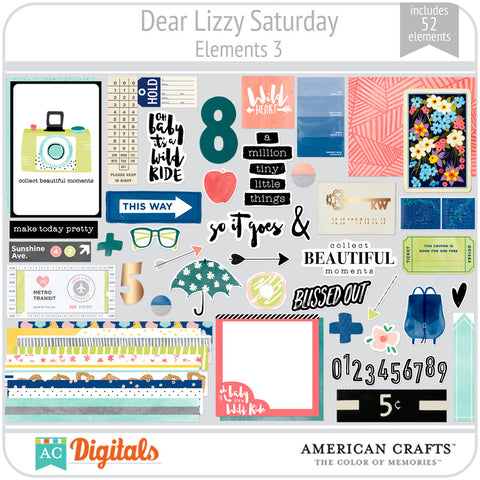 Dear Lizzy Saturday Element Pack 3