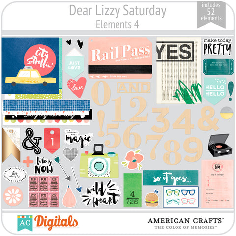 Dear Lizzy Saturday Element Pack 4