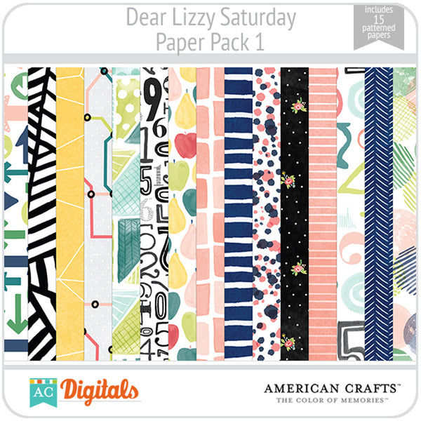 Dear Lizzy Saturday Paper Pack 1