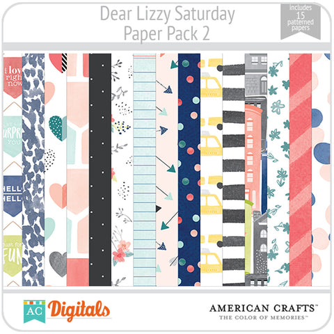 Dear Lizzy Saturday Paper Pack 2