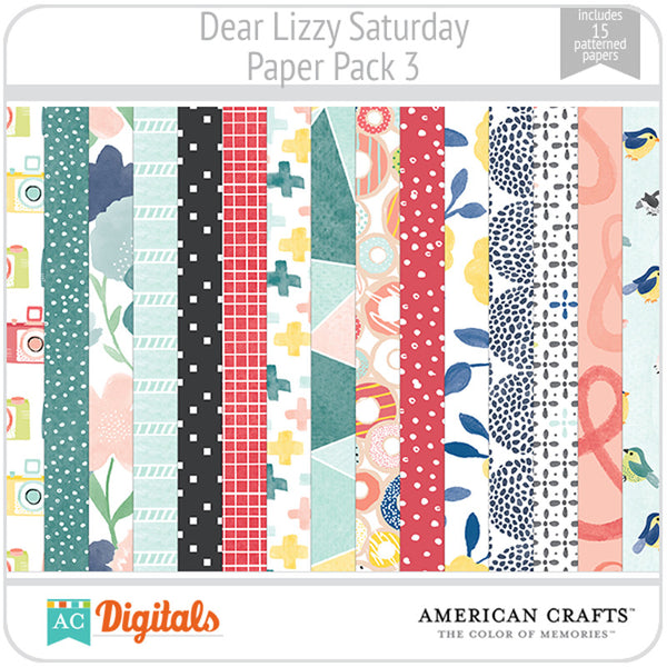 Dear Lizzy Saturday Paper Pack 3