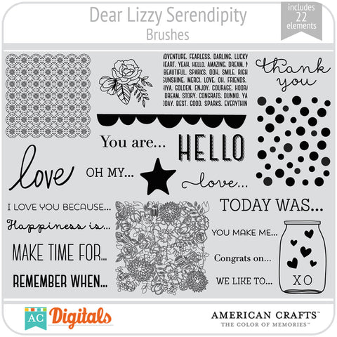Dear Lizzy Serendipity Brush Set