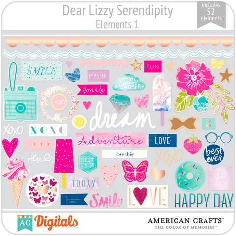Dear Lizzy Serendipity Element Pack #1