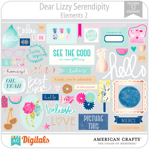 Dear Lizzy Serendipity Element Pack #2