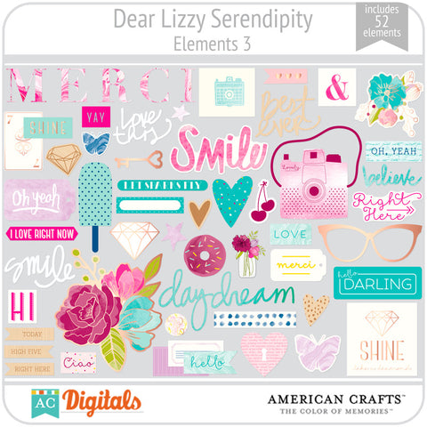 Dear Lizzy Serendipity Element Pack #3