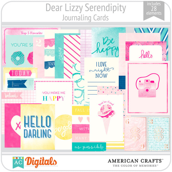 Dear Lizzy Serendipity Journaling Cards