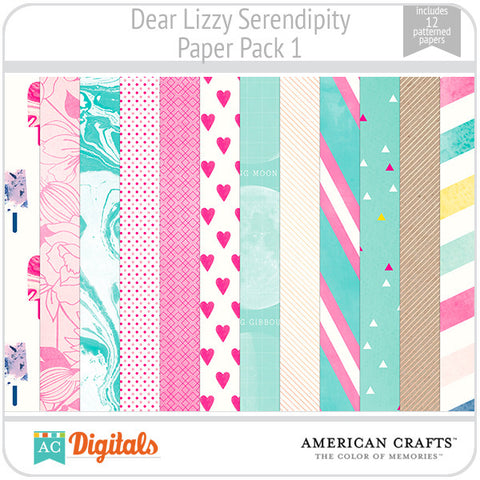 Dear Lizzy Serendipity Paper Pack #1
