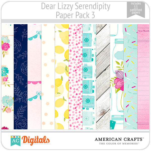Dear Lizzy Serendipity Paper Pack #3