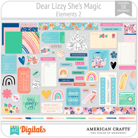 Dear Lizzy She's Magic Element Pack 2