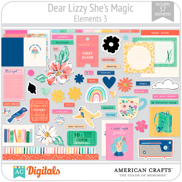 Dear Lizzy She's Magic Element Pack 3