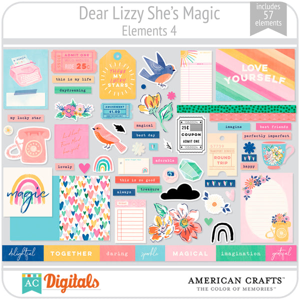 Dear Lizzy She's Magic Element Pack 4