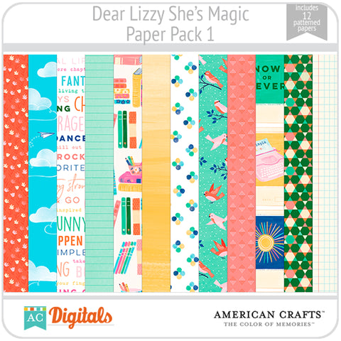 Dear Lizzy She's Magic Paper Pack 1