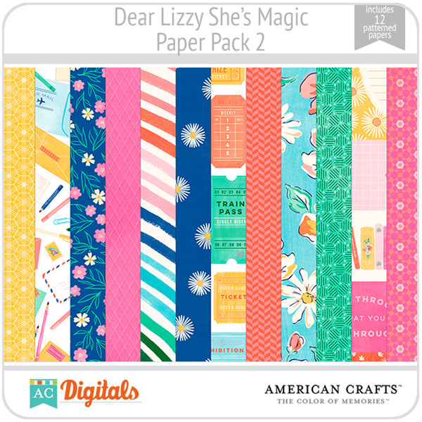 Dear Lizzy She's Magic Paper Pack 2