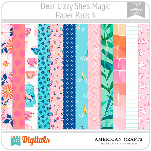 Dear Lizzy She's Magic Paper Pack 3