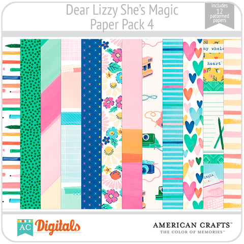 Dear Lizzy She's Magic Paper Pack 4
