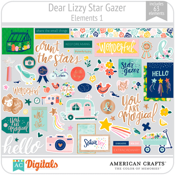 Dear Lizzy Star Gazer Element Pack 1