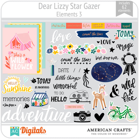 Dear Lizzy Star Gazer Element Pack 3
