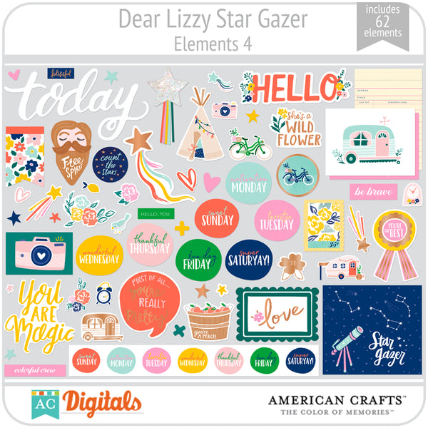Dear Lizzy Star Gazer Element Pack 4