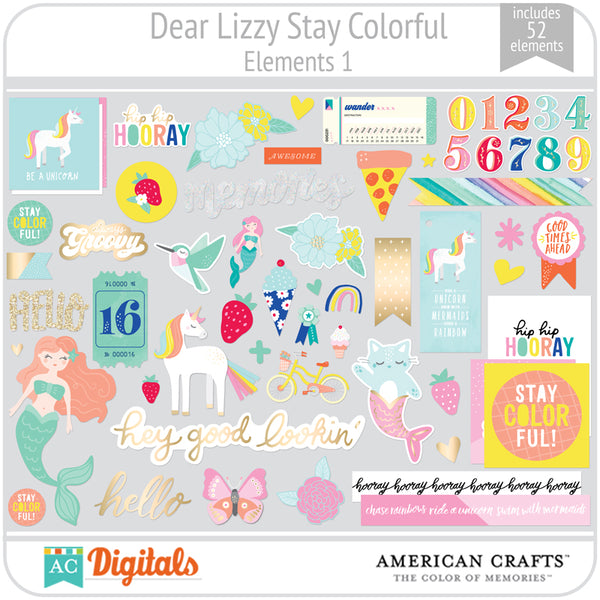 Dear Lizzy Stay Colorful Element Pack 1