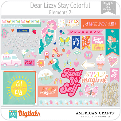 Dear Lizzy Stay Colorful Element Pack 2