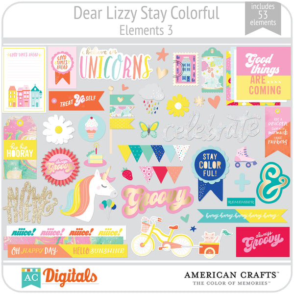 Dear Lizzy Stay Colorful Element Pack 3