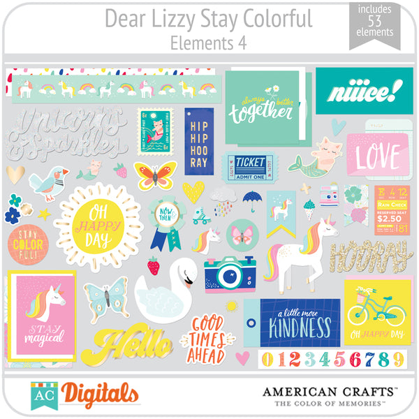 Dear Lizzy Stay Colorful Element Pack 4