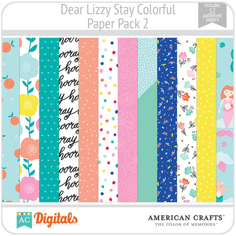 Dear Lizzy Stay Colorful Paper Pack 2
