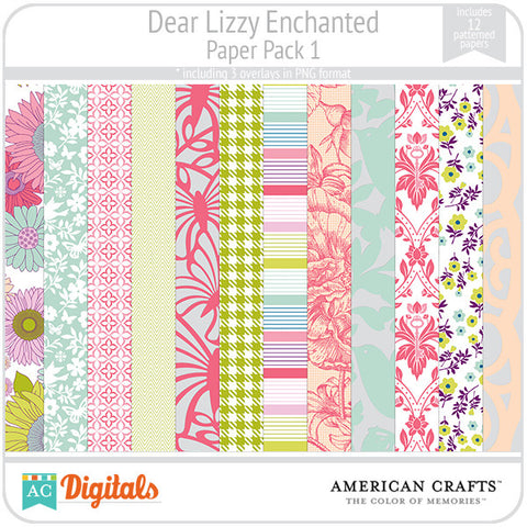 Dear Lizzy Enchanted Paper Pack #1
