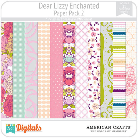 Dear Lizzy Enchanted Paper Pack #2