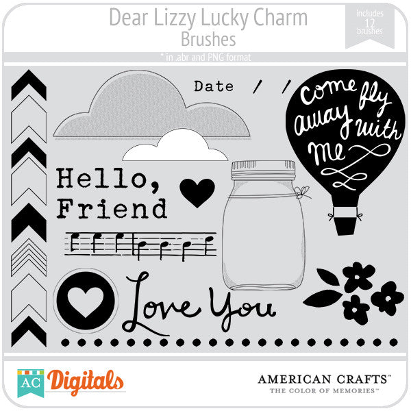 Dear Lizzy Lucky Charm Brush Set