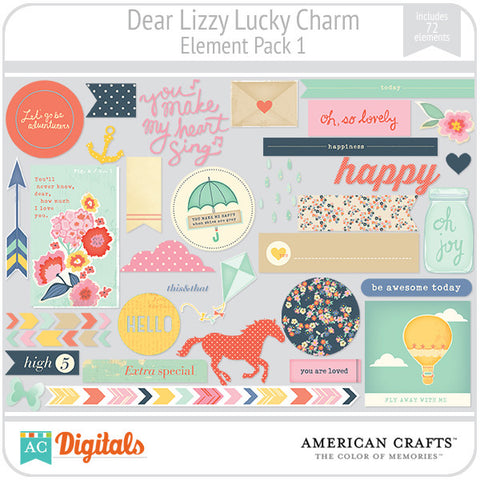 Dear Lizzy Lucky Charm Element Pack #1