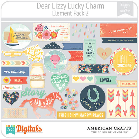 Dear Lizzy Lucky Charm Element Pack #2