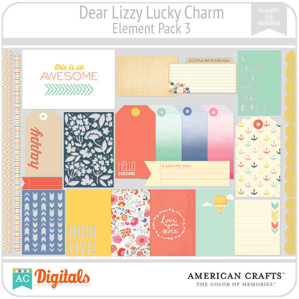 Dear Lizzy Lucky Charm Element Pack #3