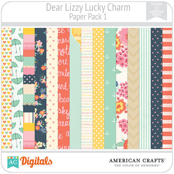 Dear Lizzy Lucky Charm Paper Pack #1