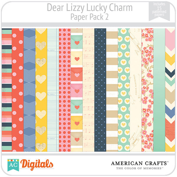 Dear Lizzy Lucky Charm Paper Pack #2
